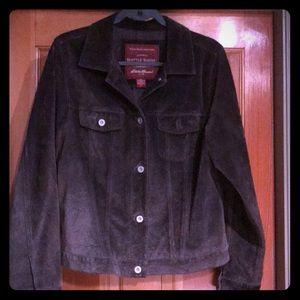 Eddie Bauer brown suede jacket